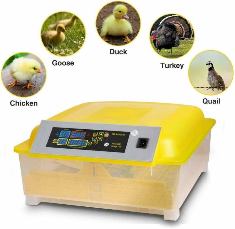 48Egg Incubator Digital Automatic Turner Hatcher Chicken Egg Temperature Control