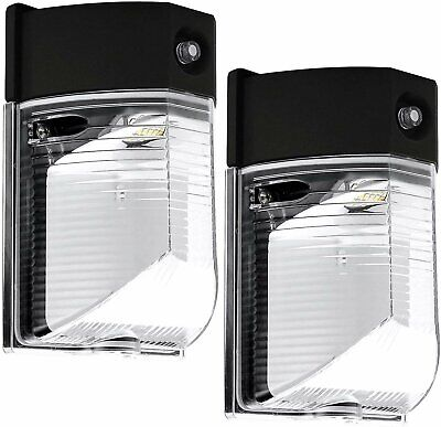 Luxrite 26W LED Wall Pack Light Dusk to Dawn Photocell 5000K