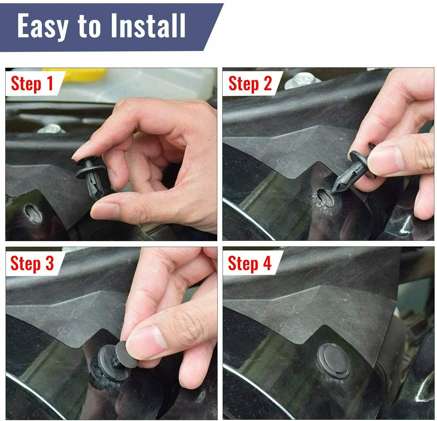 ::625 Pcs Car Retainer Clips Auto Fasteners Push Trim Clips Pin Rivet Bumper Kit