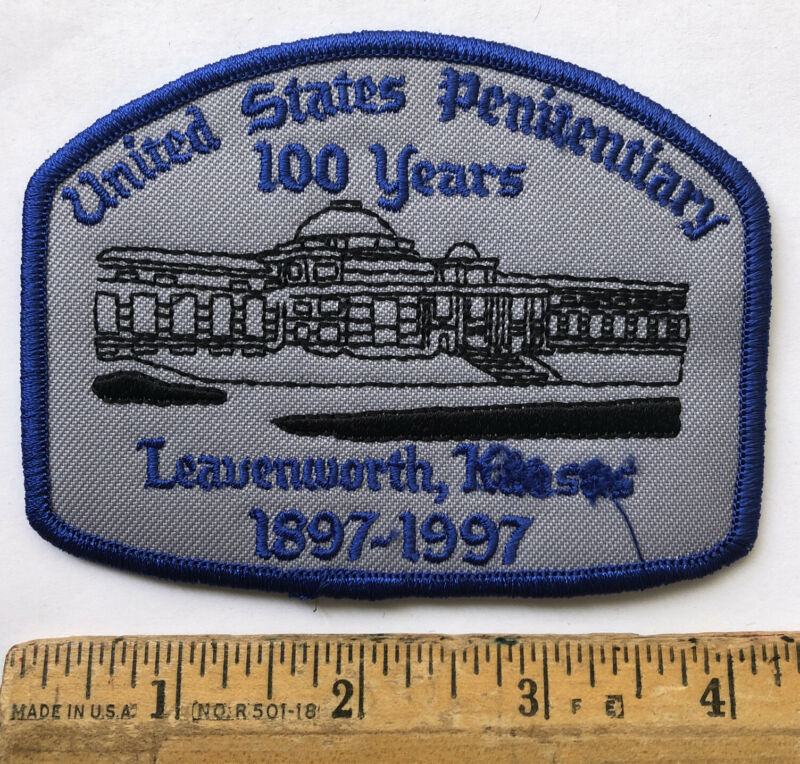 Vintage 1997 United States Penitentiary 100 Years Patch Leavenworth Kansas DOC