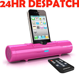 AZATOM iFlute Docking Station Speaker Portable for iPod iPhone MP3 Touch in PINK