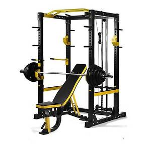 POWERTECH COMMERCIAL POWER RACK WITH BENCH OPTION & WEIGHTS Wangara Wanneroo Area Preview