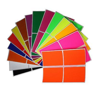 Moving 3x2 Inch Adhesive Sticker Color Coding 7.5 cm x 5 cm Rectangular Labels ](Colored Labels)