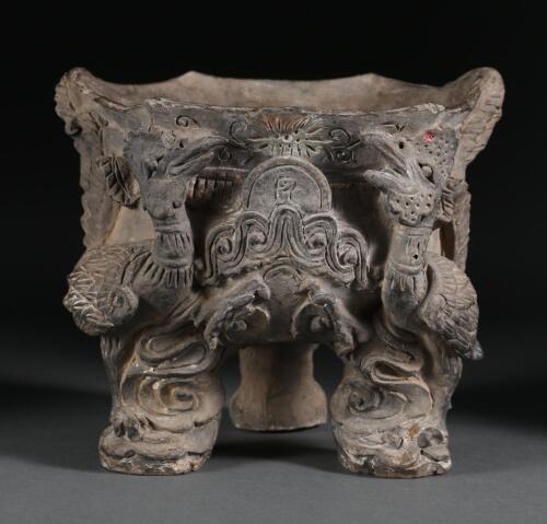 China Chinese Ceramic Phoenix Bird Tripod Phoenix Censer Yuan-Ming Dynasty