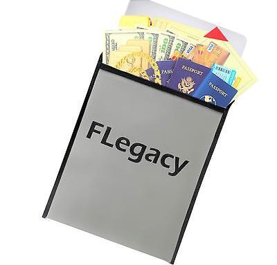 Fireproof Document Bag File Holder-safe Folder Organizer For Valuables-gray