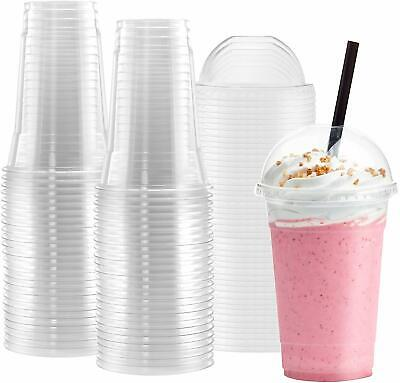 Netko Plastic Cups With Dome Lids 10 Sets Of 16 OZ Disposable Cup With -