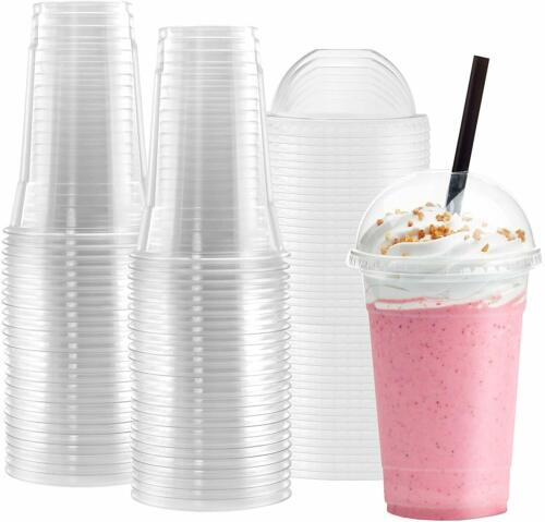 Netko Plastic Cups With Dome Lids 10 Sets Of 16 OZ Disposable Cup With Lids