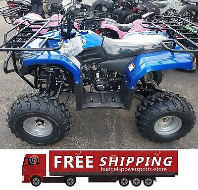 Full size 125cc atv taotao ata-125f1 Free shipping Large tires 2 racks semi auto