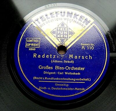0871/ CARL WOITSCHACH-Hoch- und Deutschmeister-Marsch-Radetzky Marsch-Schellack