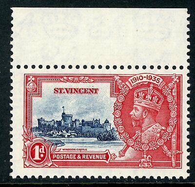 British 1935 Silver Jubilee 1d St Vincent Scott # 134 Variety Mint C484