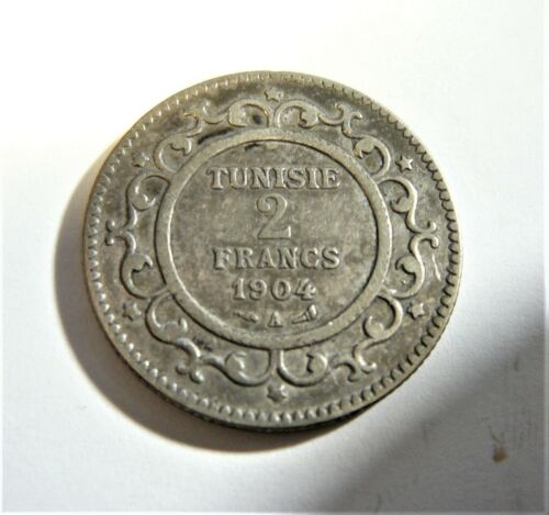 Tunisia 1904 Silver 2 Francs  SB1