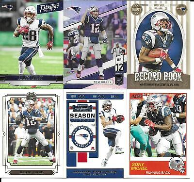 Lot 50 Different New England Patriots Cards 2017-2019 SUPER BOWL CHAMPS