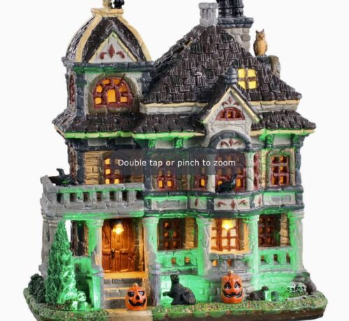 Lemax Spooky Town Grimsbury Haunted House #05609 BNIB Lighted Scary Building