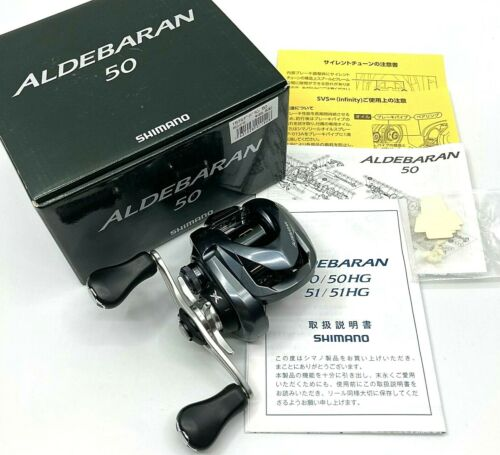 Shimano ALDEBARAN 50 Right Bait Casting Reel In Box <Near Mint> From JAPAN【DHL】
