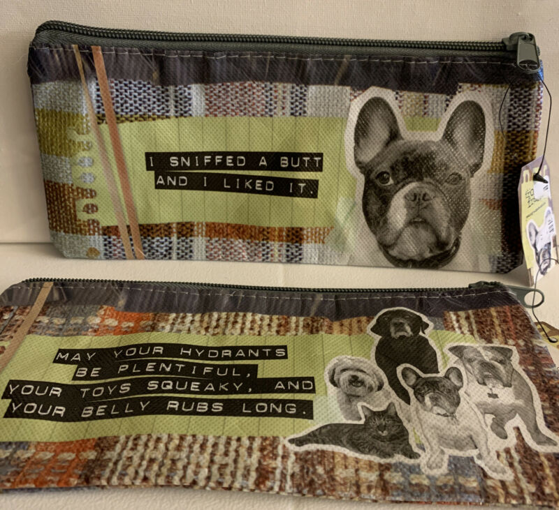 French Bulldog Long Accessory/Makeup Bag 2 Styles Very Funny Saying