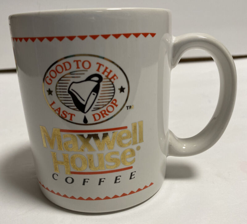"Maxwell House Coffee "" Good to the last drop"" Rolling Stone Mug Tea Cup New"