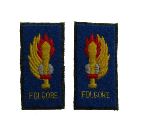 Italian WW2 Enlisted ranks FOLGORE Regiment parachute Collar Tabs