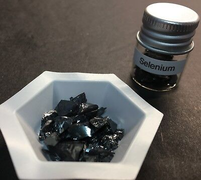 ELEMENT #34 , SELENIUM PIECES, 99.99% PURE SAMPLE, 5 GM, FROM USA