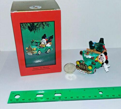 """Enesco Treasury of Christmas Disney Mickey & Co. """" Trees To Please """" 168378"""