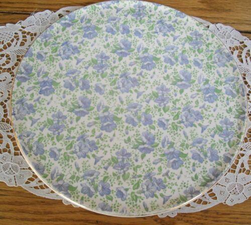 """Vintage Royal Tudor Ware Barker England Blue Morning Glories 11"""" Cake Platter ~"""