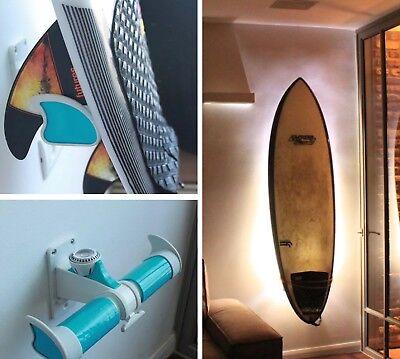 MUST C!! This Amazing Blue Ignited Surf Board Wall Adjusted Rack!!! BNIB
