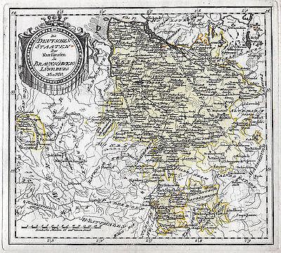 Braunschweig - Lüneburg schöne Landkarte 1791 Original