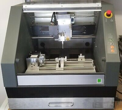 Roland Mdx-40a Cnc Mill Zcl-40a 4-axis And Zdx-40a Chip Collection Drawer