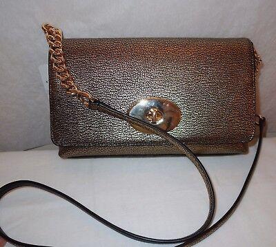 Nwt Coach Metallic Gold Pebble Leather Crosstown Purse 36335  195
