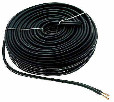 Black 50 Ft 12 Gauge AWG Car Home Audio Speaker Wire Cable Spool BGES12.50