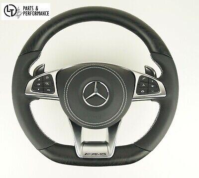 LE TEF® Esche Offenporig Holz Lenkrad für Mercedes-Benz AMG W205 W222 C217 A217