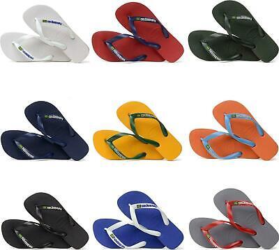 eea161a64ed3 Havaianas HAV BRASIL LOGO Mens Slip On Summer Pool Rubber Toe Post Flip  Flops
