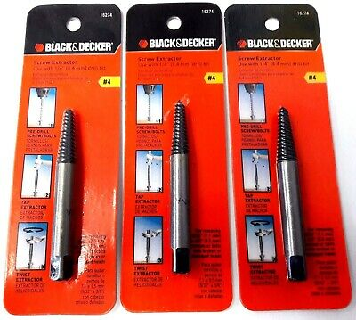 Black & Decker 16274 #4 Screw Extractor Use With 1/4