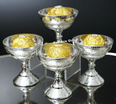 Party Favor Containers (12 FIRST COMMUNION PARTY FAVORS CANDY CONTAINER CUP COMUNION RECUERDOS SILVER)