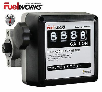 "FUELWORKS 1"" Mechanical Fuel Meter for All Fuel Transfer Pumps, Color Black"