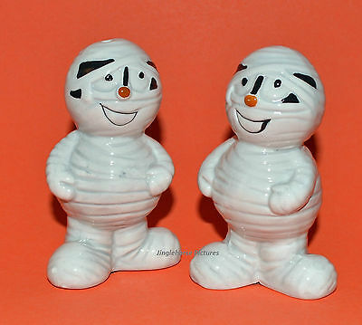 MUMMY - ZOMBIE Monster Halloween Salt & Pepper Shakers 4