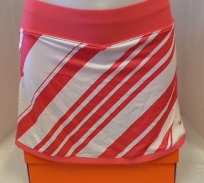 New Nike Women's Border Power Tennis Skirt/Skort Pink/White 363374-622 ***
