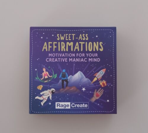 NEW Sweet-Ass Affirmations Deck by Rage Create - Motivation, Self-Help, Creative