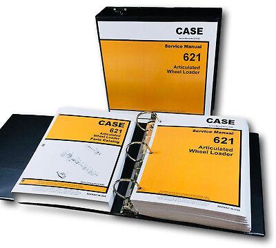 Case 621 Articulated Wheel Loader Service Parts Catalog Manuals Shop Book Set Oh