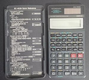 rare vintage Micronta EC-4039 calculator
