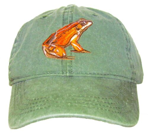 California Red-Legged Frog Embroidered Cotton Cap NEW Amphibian