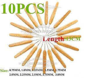 Bamboo-Handle-Aluminum-Crochet-Hooks-Yarn-Knitting-Needles-0-75MM-3MM-10PCS