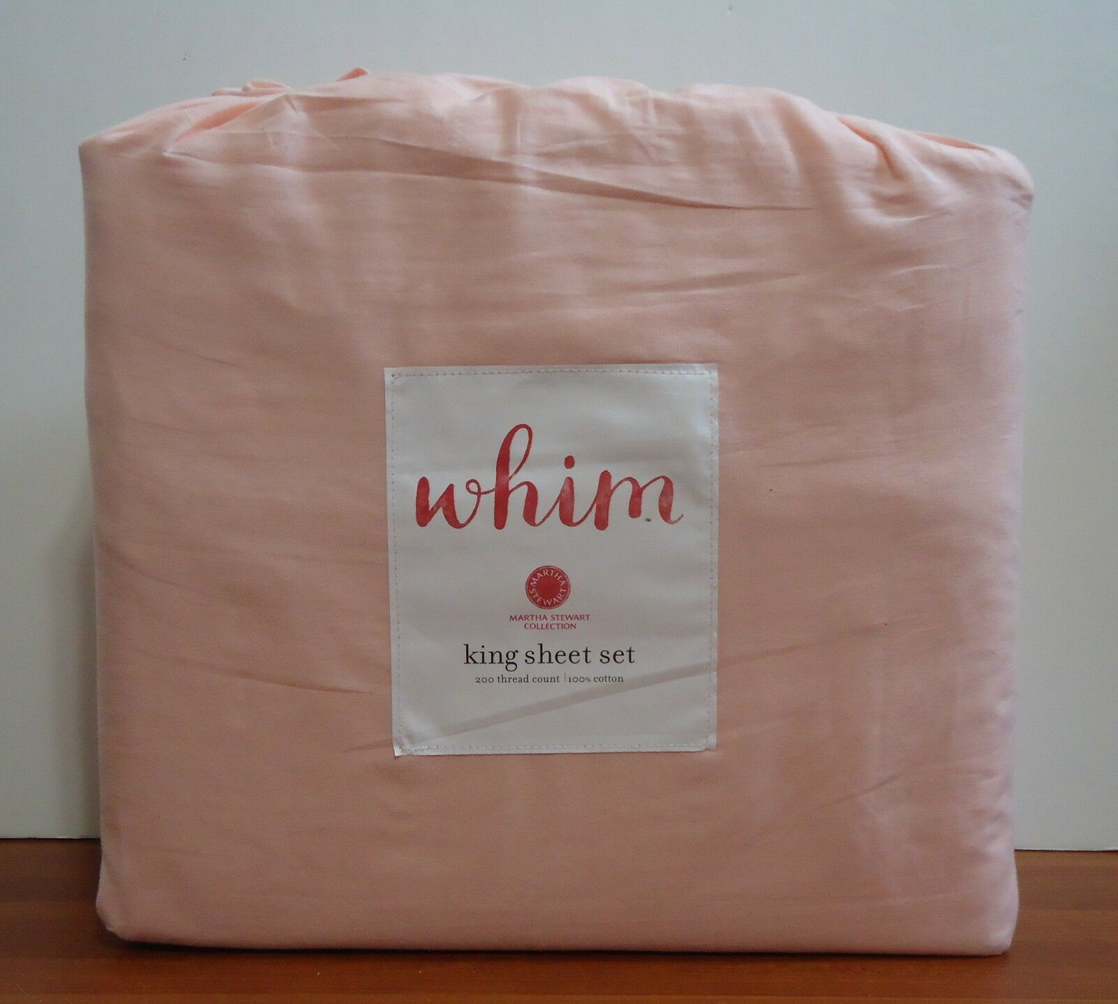 Whim By Martha Stewart Collection Vintage Washed 4-pc.King Sheet Set Blush - $97.49