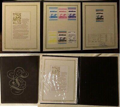 ST VINCENT 1983 - TRENI 2,5 $ - 6 prove colore progressive + definitivo FOLDER