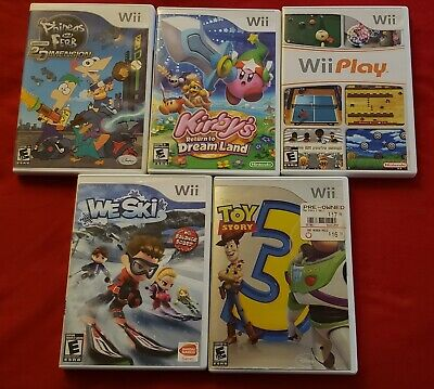 Nintendo Wii Game Lot. Kirby's Return to Dreamland. 5 game lot.