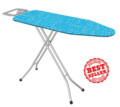 High Quality Ironing Board With Iron Rest,Large  43 Inch, Made In Turkey,Blue