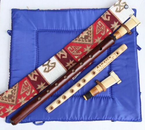 DUDUK +National CASE+2 reeds NEW FROM ARMENIA Hand made APRICOT WOOD instruction