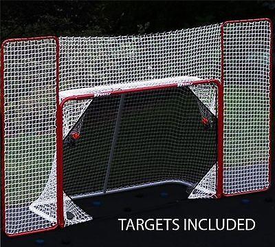 Hockey Goal Backstop Net Kit Practice Shooting Puck Ball at Target Outside NHL