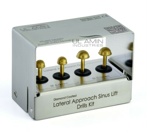 Dental Lateral Approach Diamond Burs Kit Sinus Lift / Elevation Stainless Steel