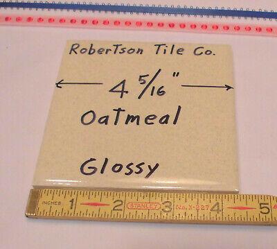 1 pc. Ceramic Tile *Oatmeal Color* 4-3/8