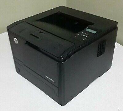 HP LaserJet Pro 400 M401dne Monchrome Laser Printer Tested includes Toner, Cords